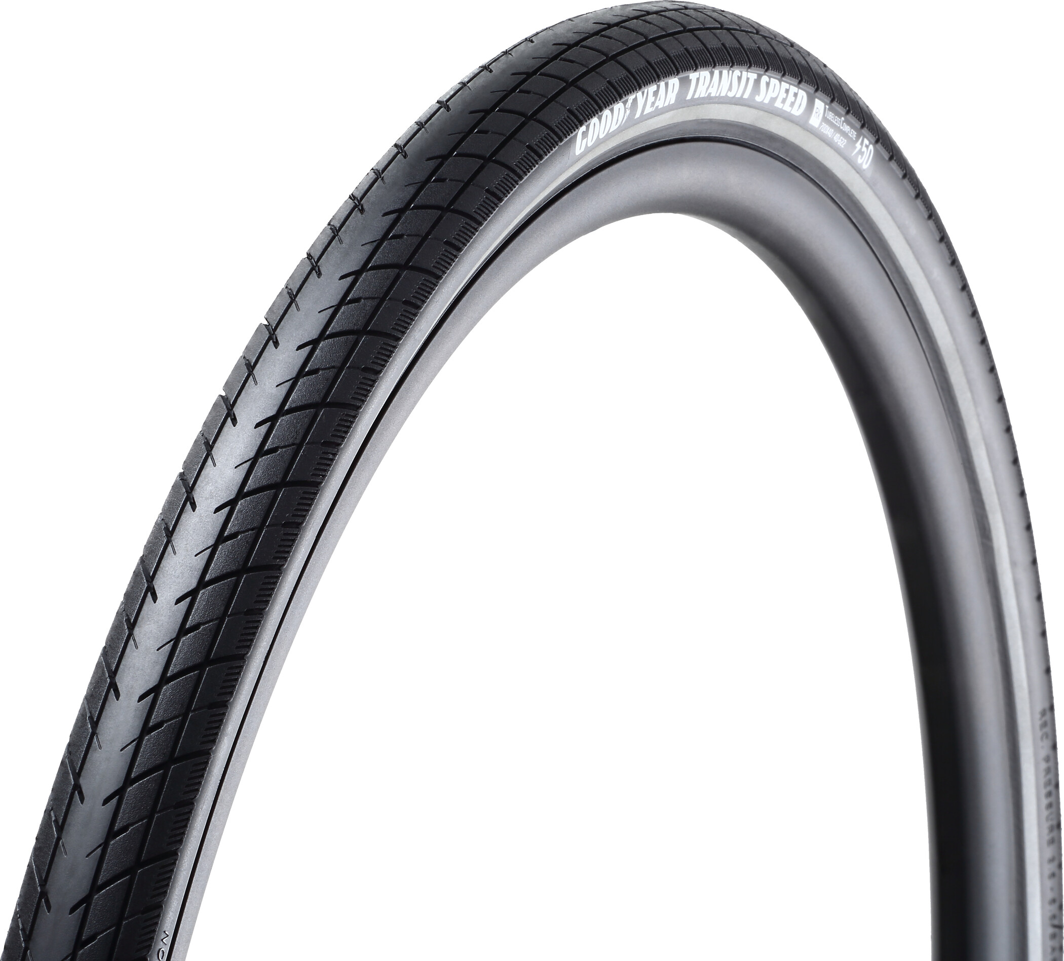 Goodyear Transit Speed Foldedæk 35-622 Tubeless Complete Dynamic Silica4 e50, black reflected (2019)   Tyres