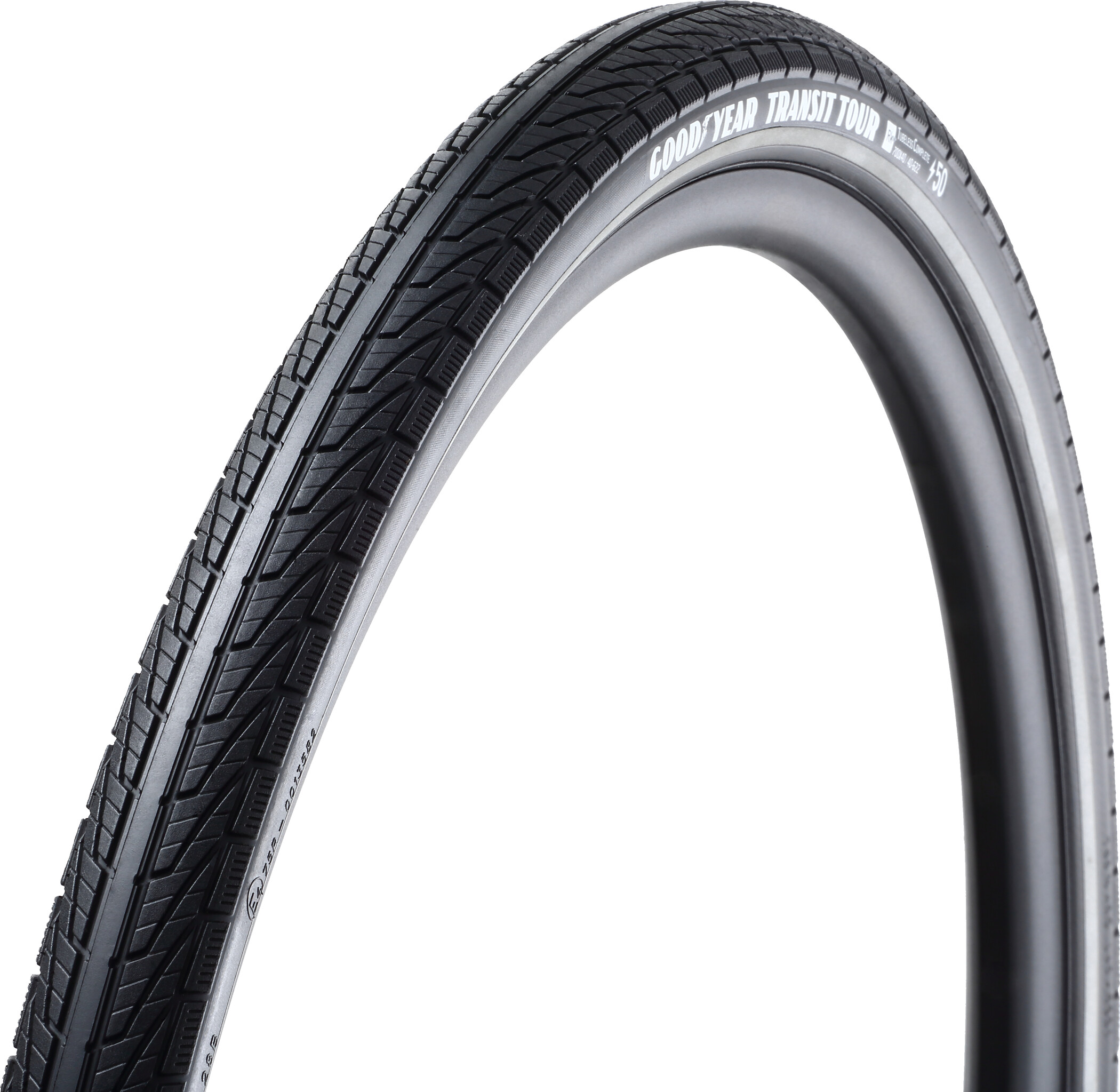 Goodyear Transit Tour Foldedæk 50-584 Tubeless Complete Dynamic Silica4 e50, black reflected (2019)   Tyres