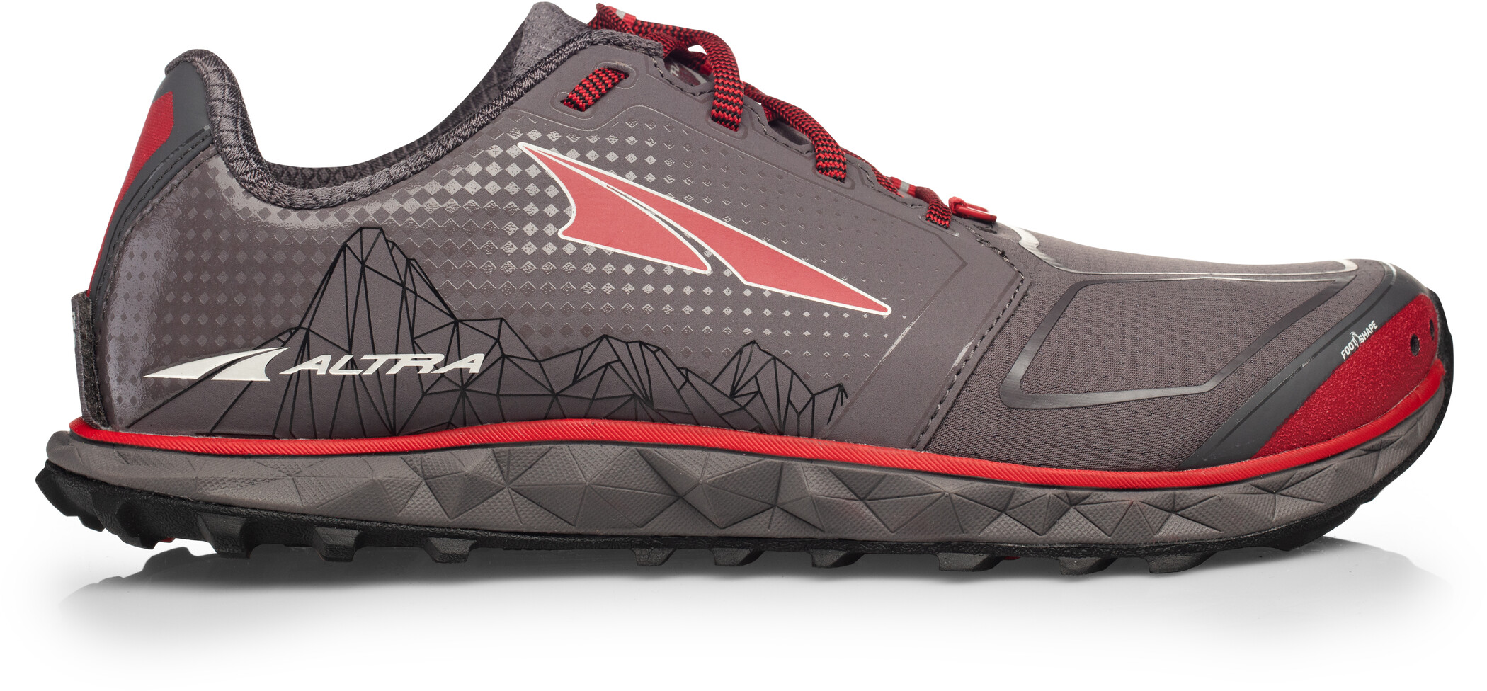 Altra Superior 4 Løbesko Herrer, gray/red (2019) | Running shoes