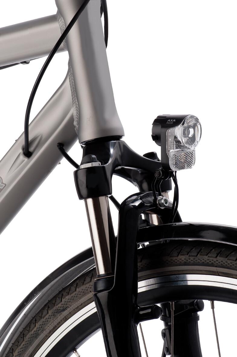 Faros de bicicleta axa echo 30 para Nabendynamo con soporte y cable