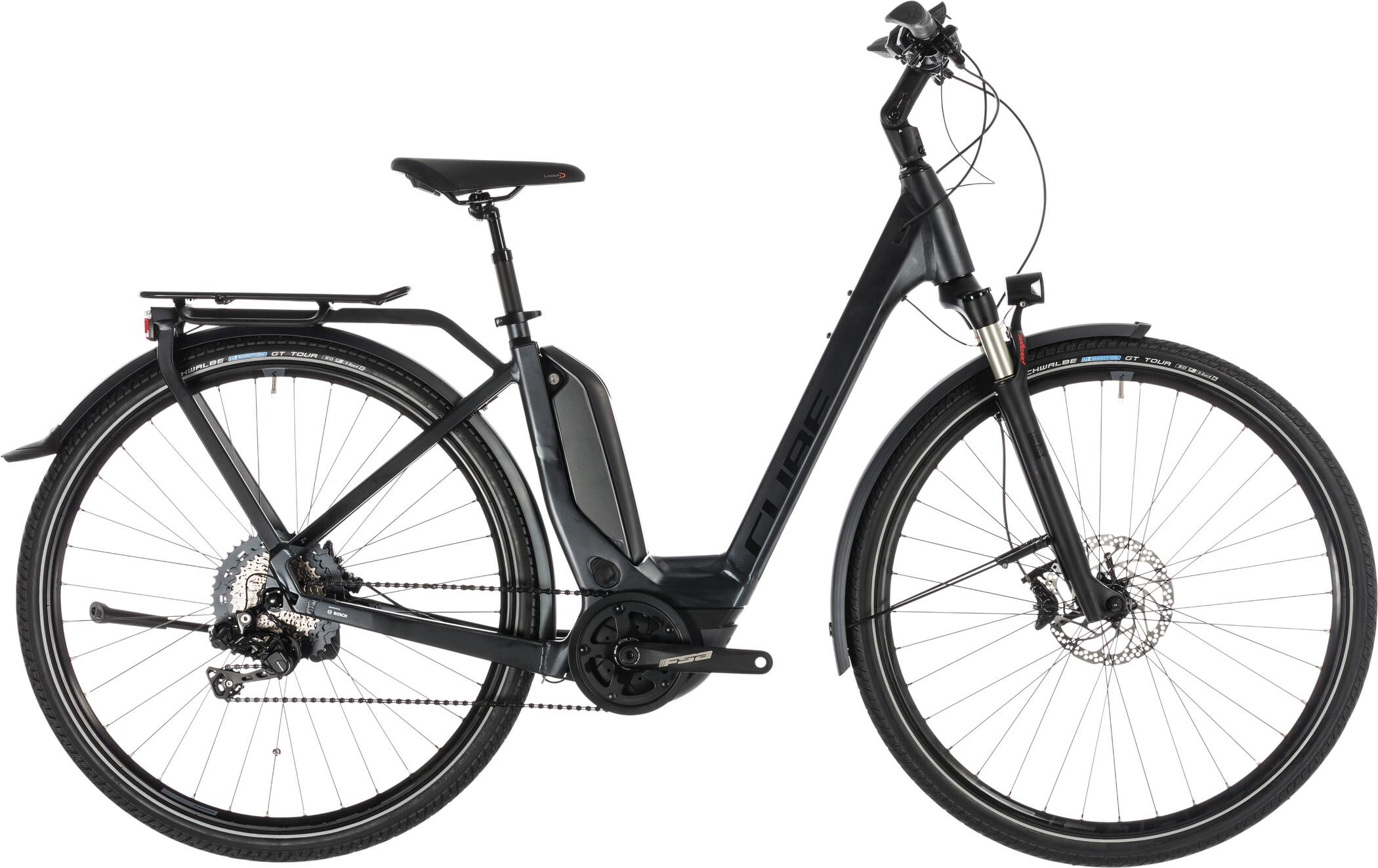 Cube Touring Hybrid SL 500 KIOX Easy Entry, iridium'n'red (2019) | City-cykler