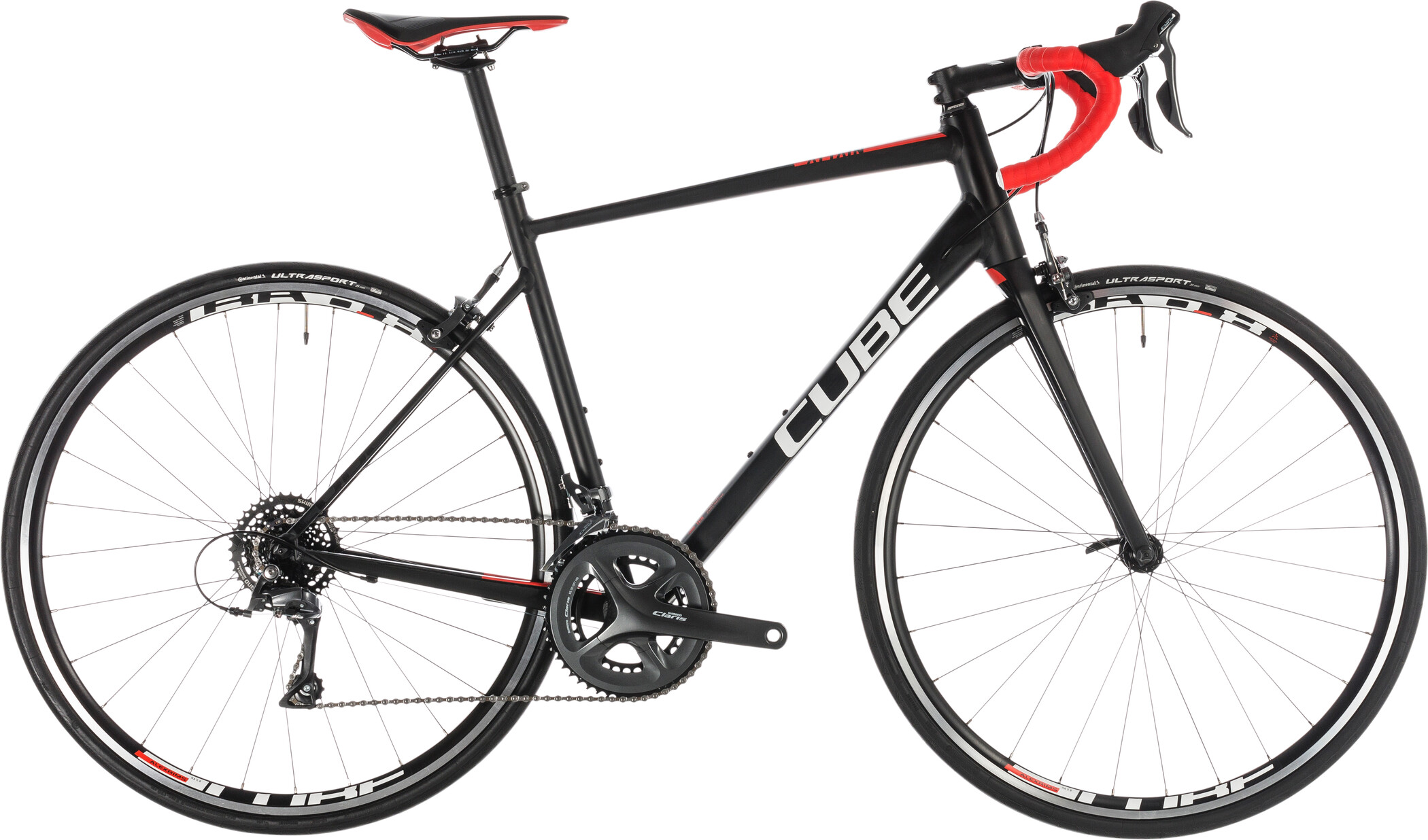 Cube Attain Racercykel sort (2019) | Road bikes