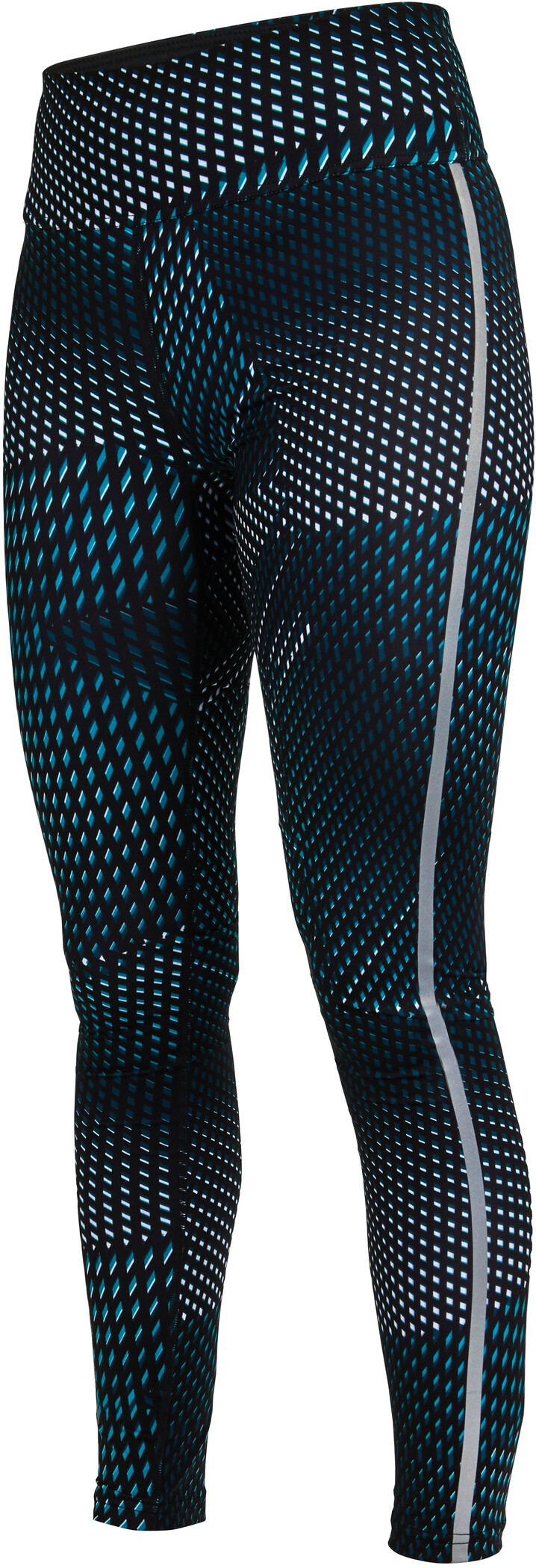Salming Split Tights Damer, deep teal all over print (2019) | Trousers