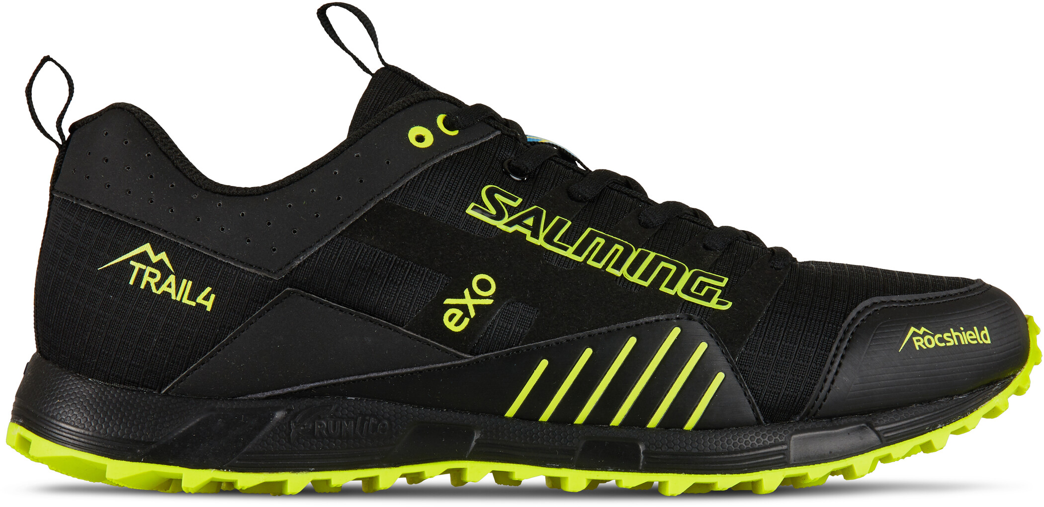 Salming Trail T4 Sko Herrer, black/safety yellow (2019) | Shoes and overlays