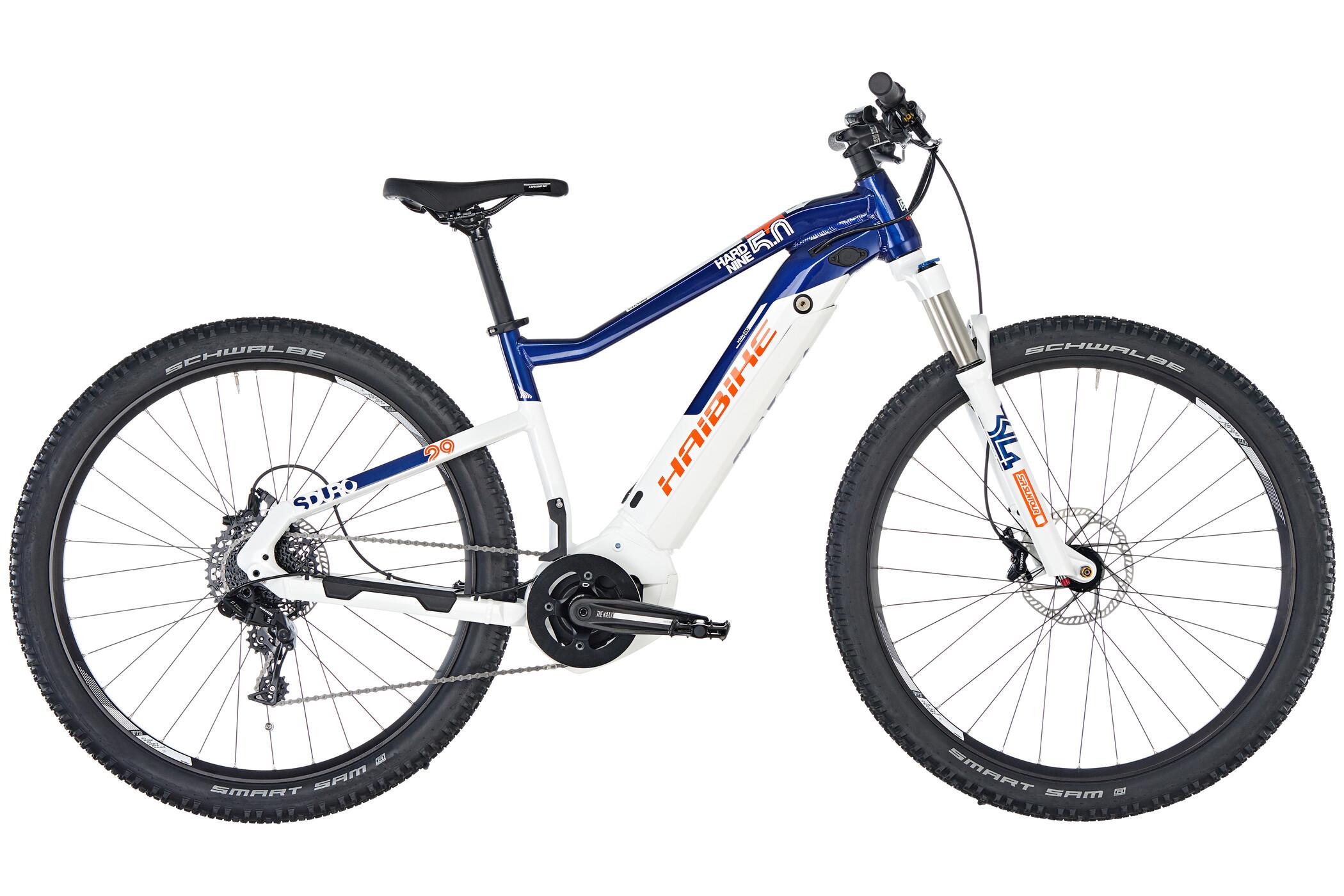 HAIBIKE SDURO HardNine 5.0 E-mountainbike blå/hvid (2019) | MTB
