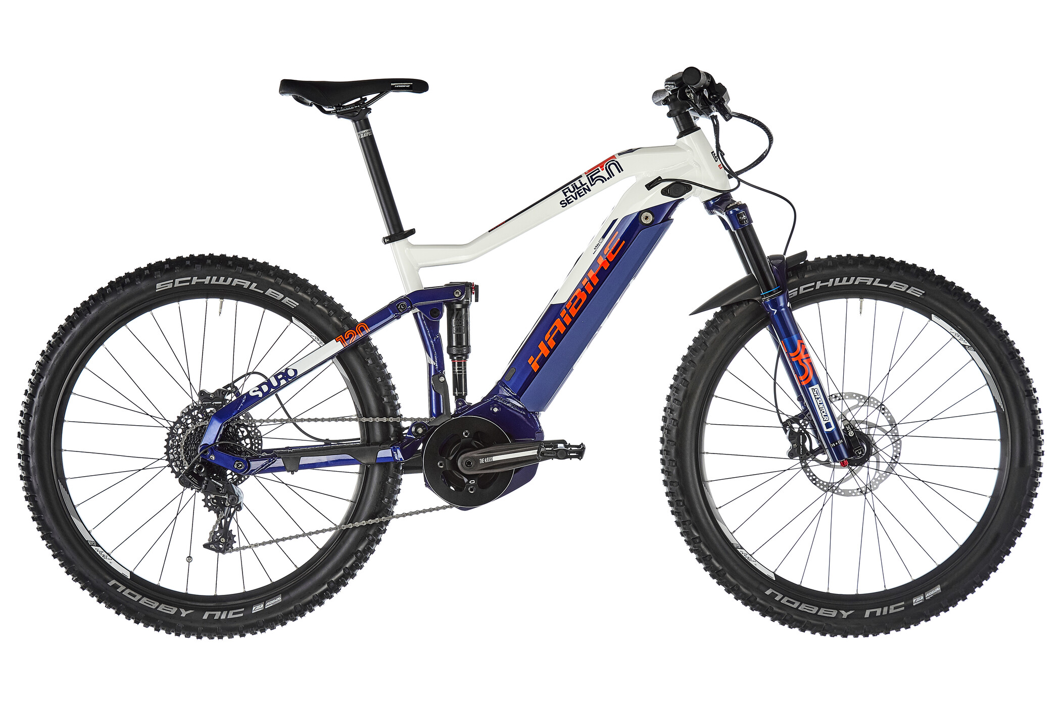HAIBIKE SDURO FullSeven 5.0, blue/white/orange (2019) | MTB