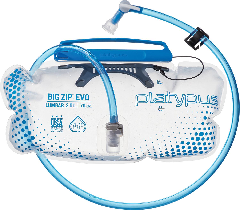 Platypus Big Zip EVO Lumbar 2L flaske   Drikkedunke