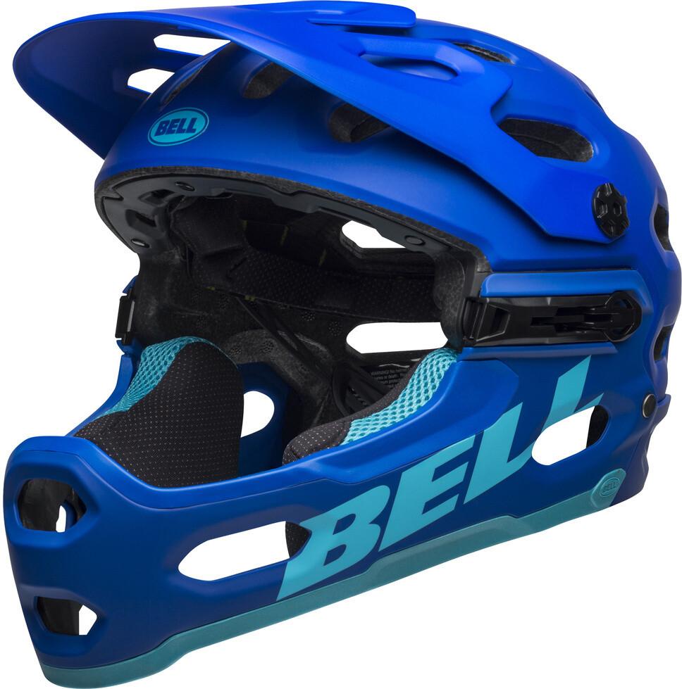 Bell Super 3R MIPS Cykelhjelm, matte blue/bright blue (2019) | Hjelme