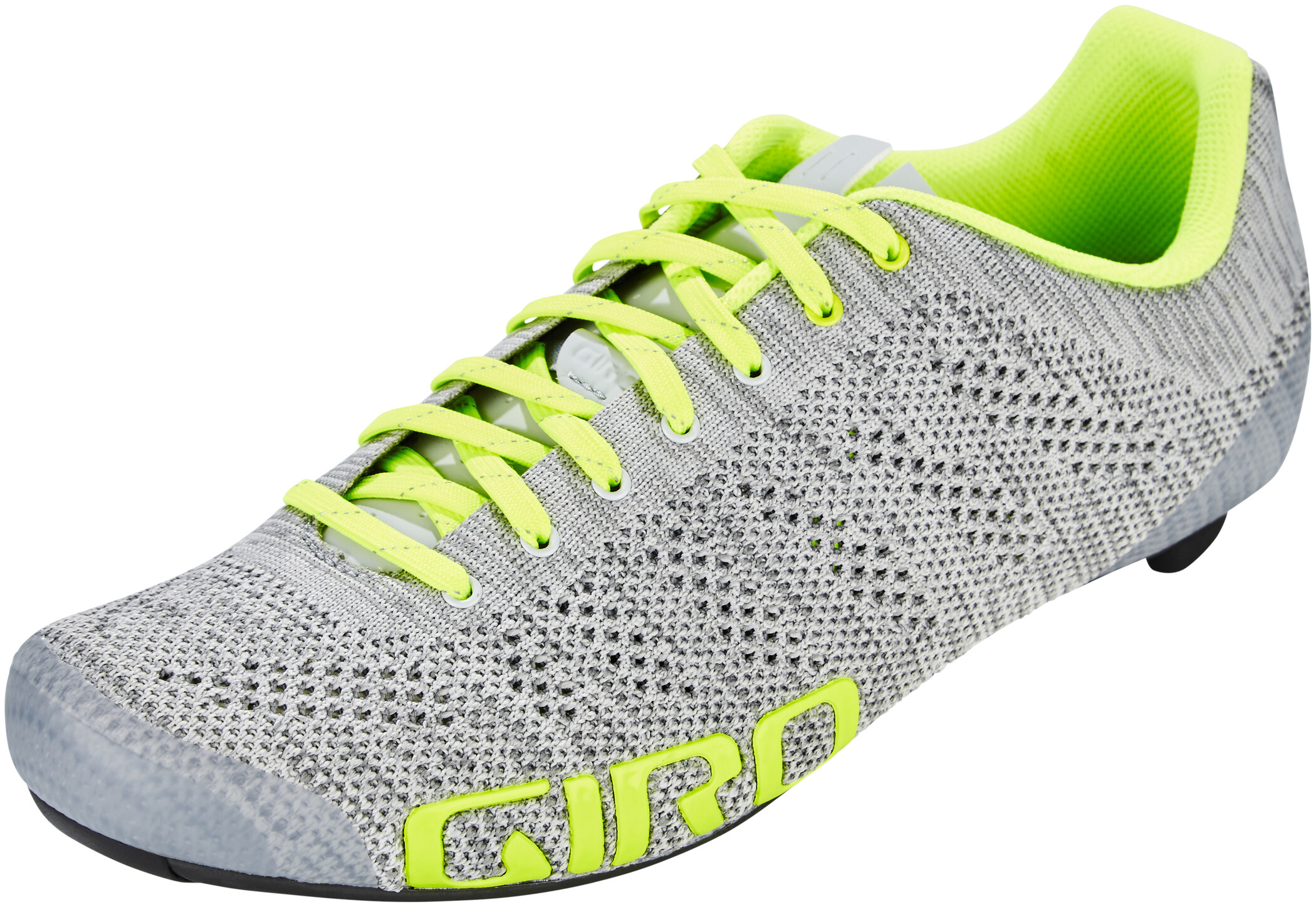 Giro Empire E70 Knit Sko Herrer, grey heather/highlight yellow (2020) | Shoes and overlays