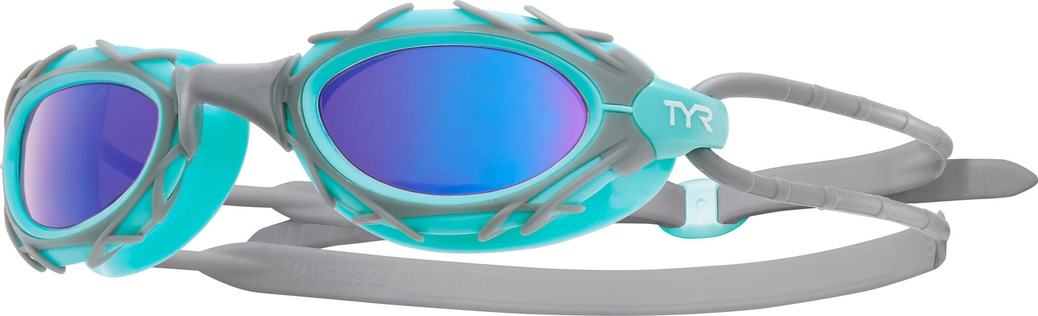 TYR Nest Pro Nano Goggles Metelized, blue/mint (2019) | Glasses