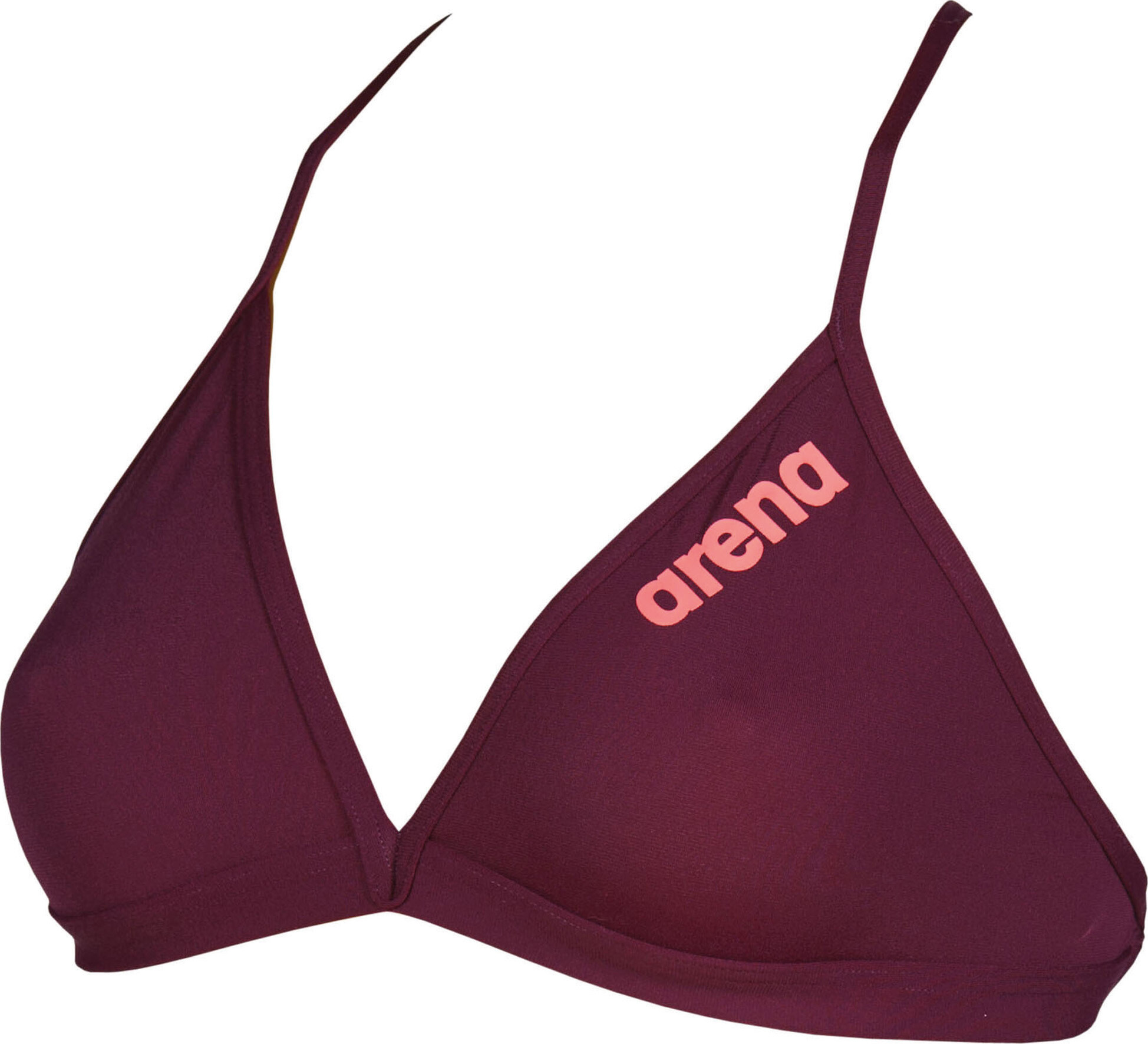 arena Solid Tie Back Top Damer, red wine-shiny pink (2019) | swim_clothes