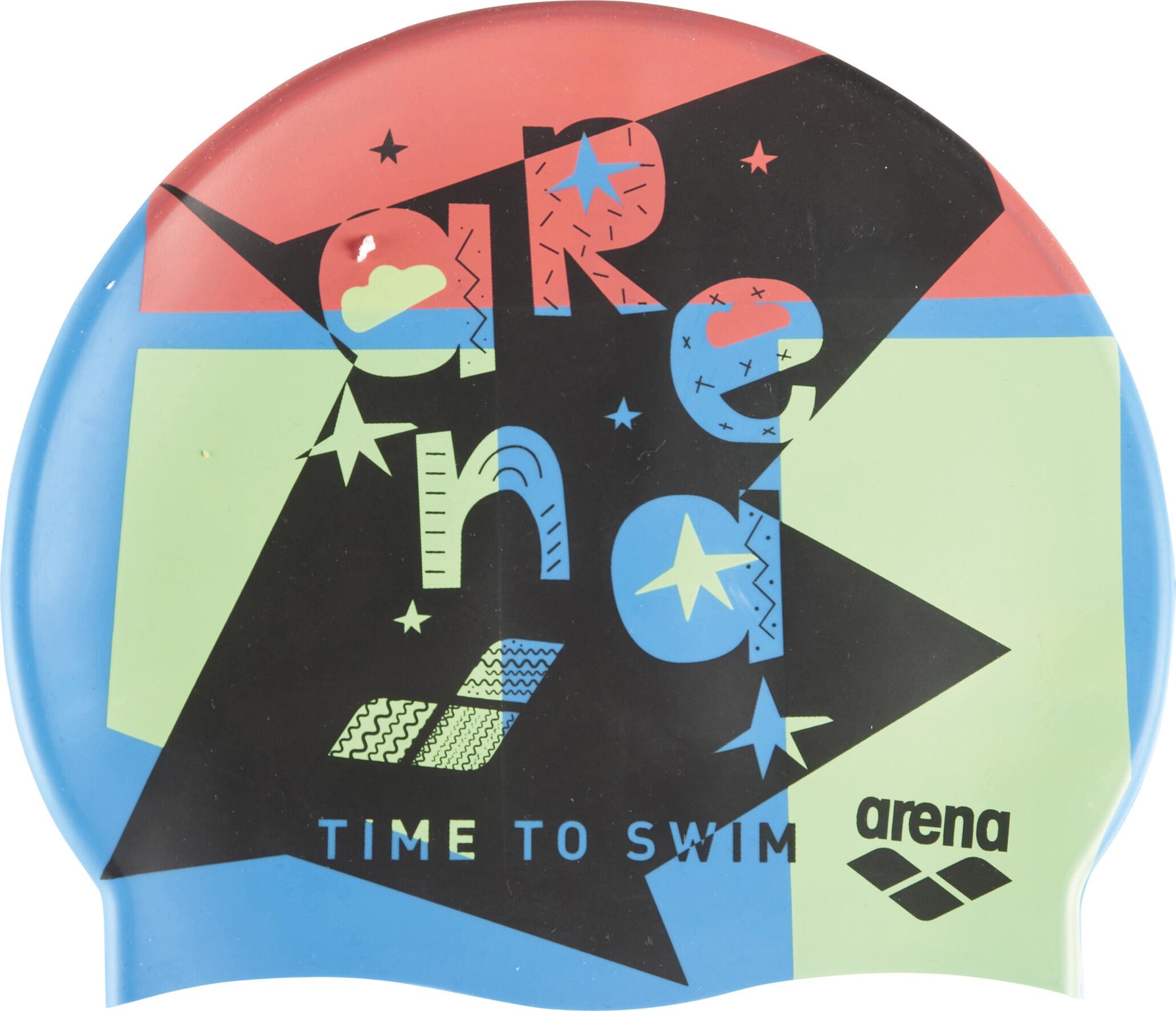 arena Print Badehætte Børn, swim time blue   Swim equipment