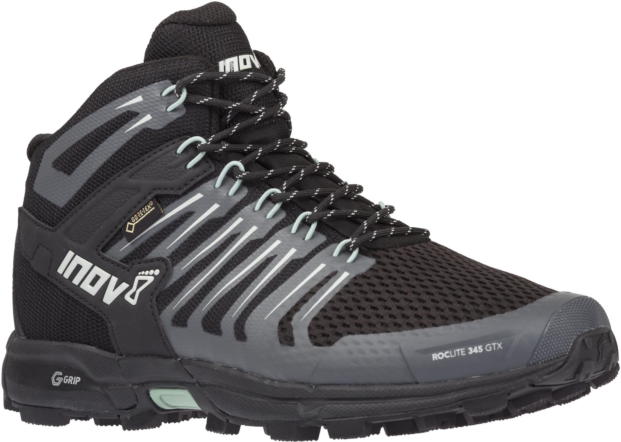 inov-8 Roclite 345 GTX Sko Damer, black/green (2019)   Shoes and overlays