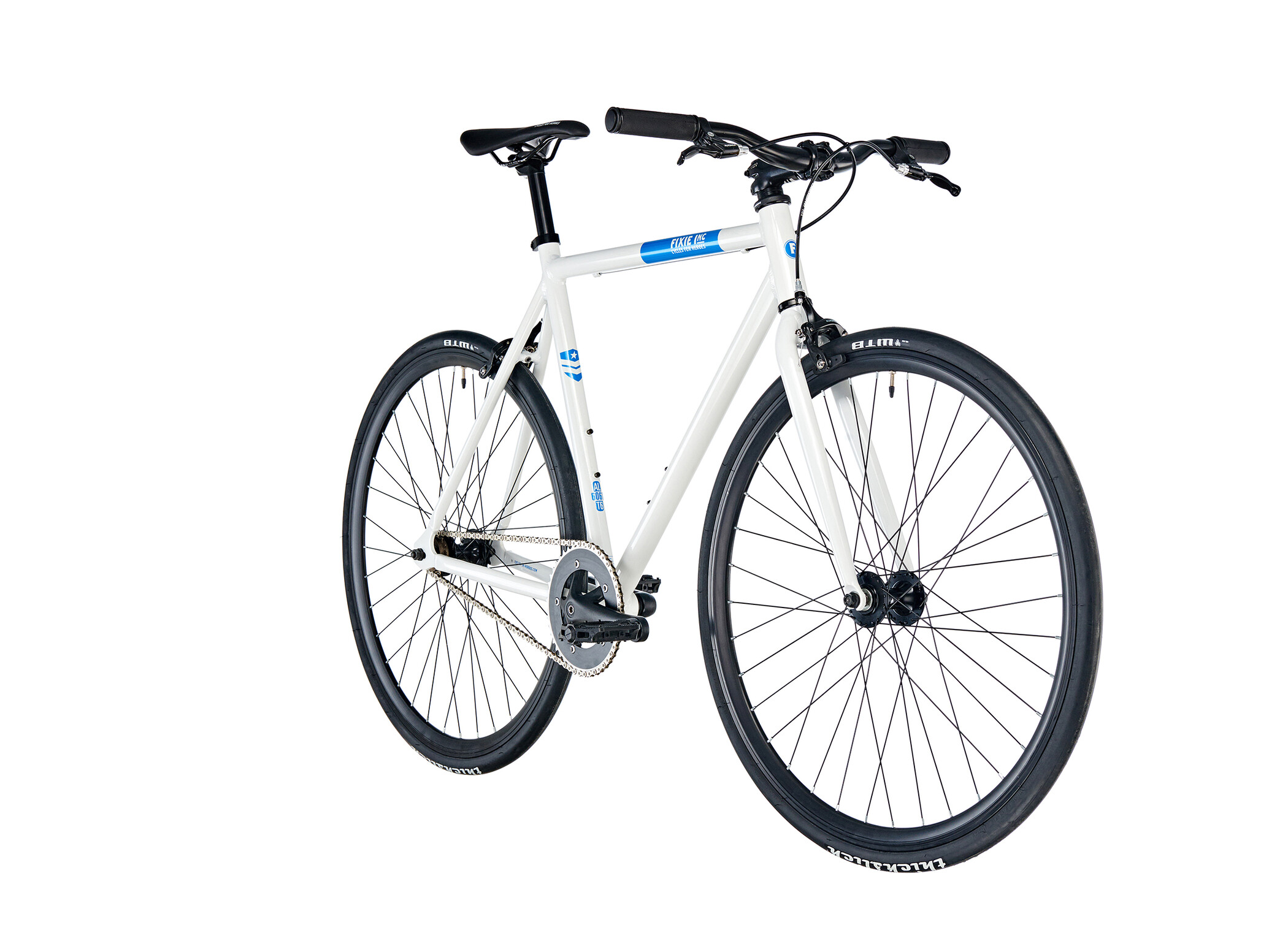 FIXIE Inc. Floater, white blue (2019) | City-cykler