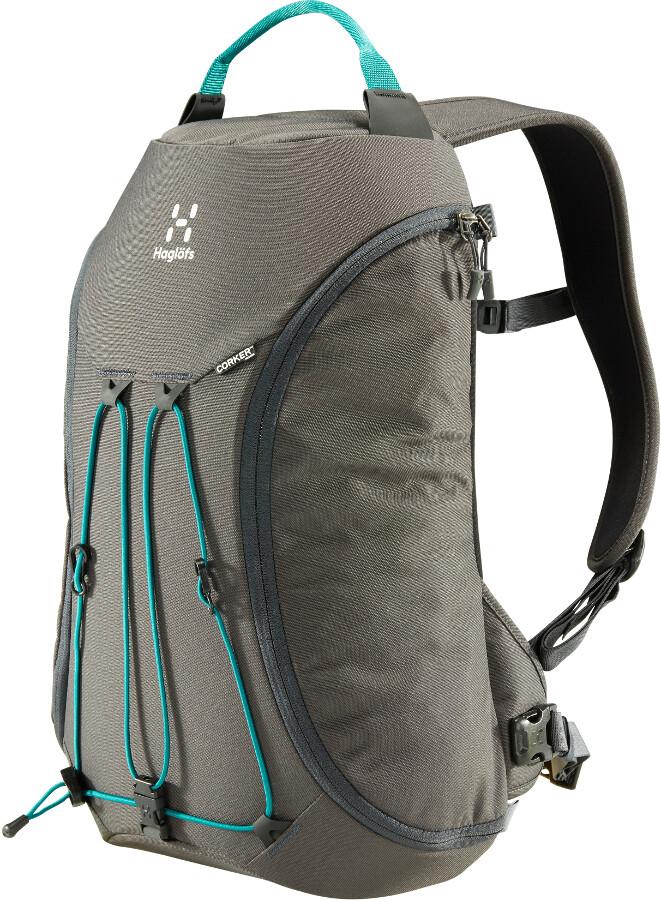 Haglöfs Corker Backpack Medium 18l, magnetite/alpine green (2019)   Travel bags