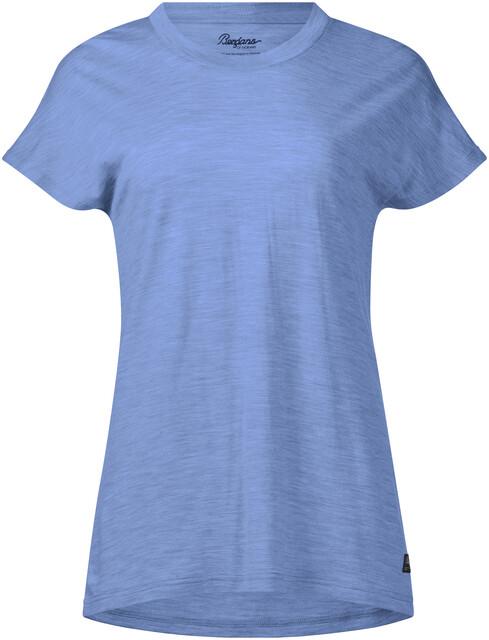 Bergans Oslo Wool Tee Women Dark Navy 2019 Kurzarmshirt blau Outdoor-Bekleidung