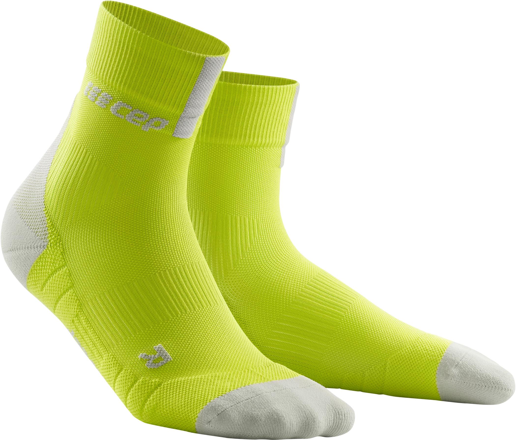 cep Short Socks 3.0 Herrer, lime/light grey (2019) | Compression