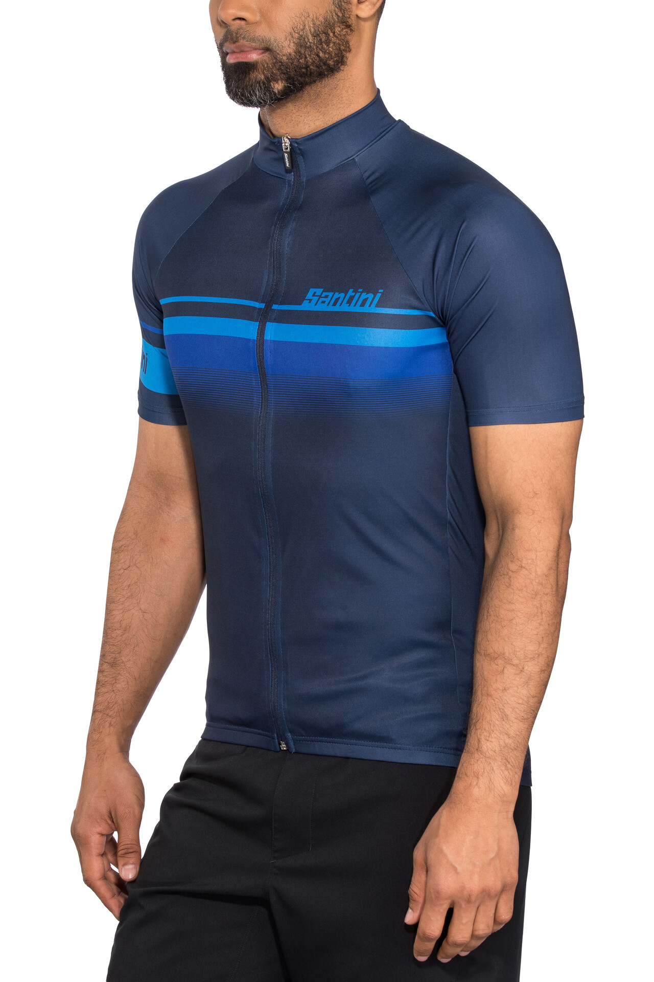 Italia Maillot de cyclisme en Royal Bleu Fabriqué en Italie par SANTINI