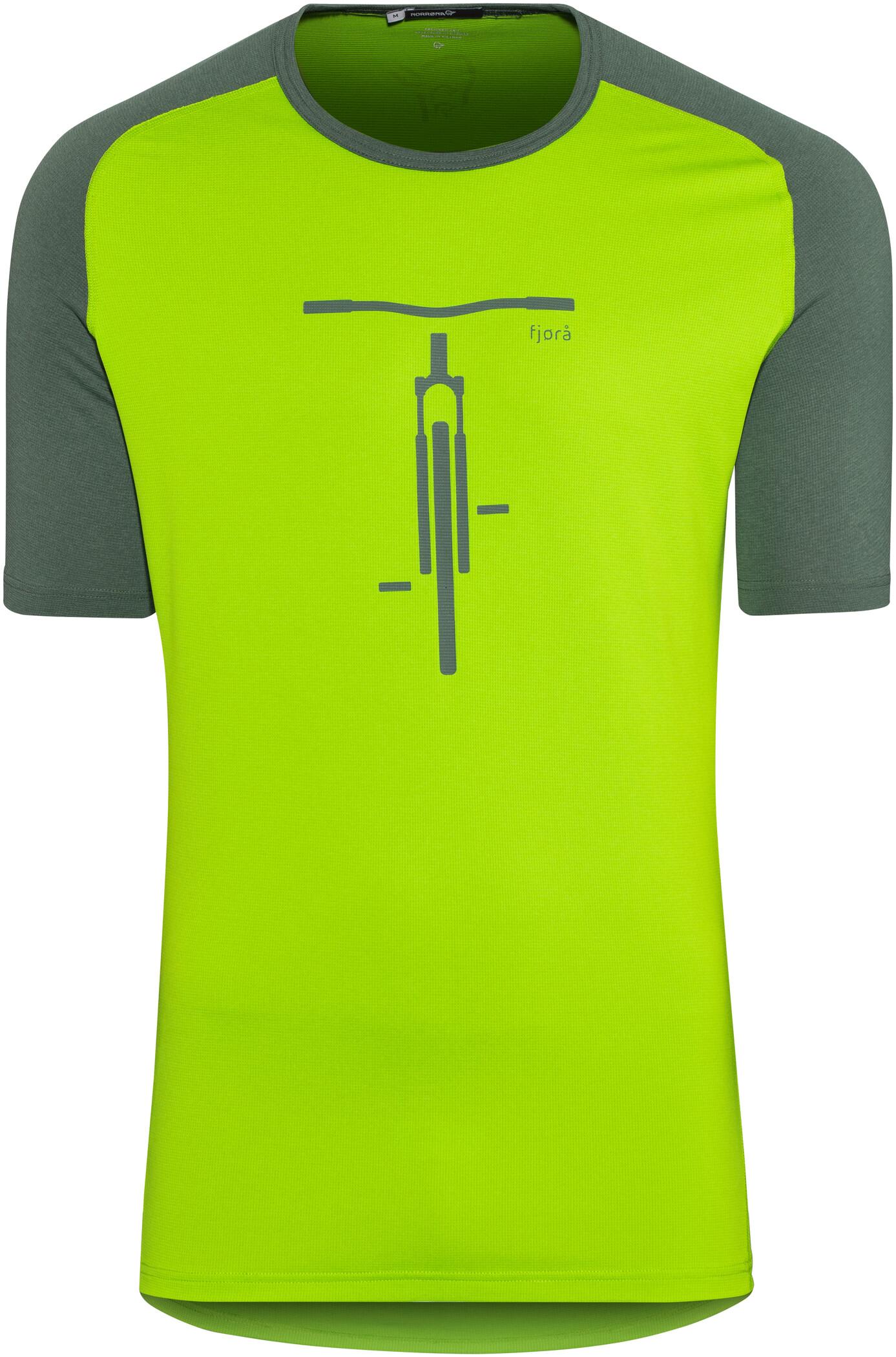 Norrøna Fjørå Equaliser Lightweight T-shirt Herrer, bamboo green (2019)   Jerseys