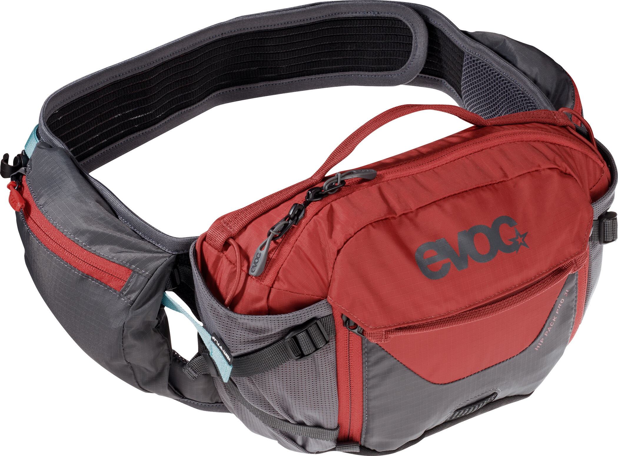 EVOC Hip Pack Pro medium, carbon grey/chili red | Waist bags