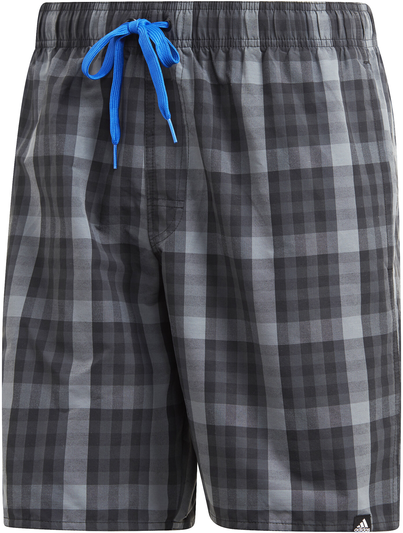adidas Check ML Shorts Herrer, black/blue (2019) | Trousers