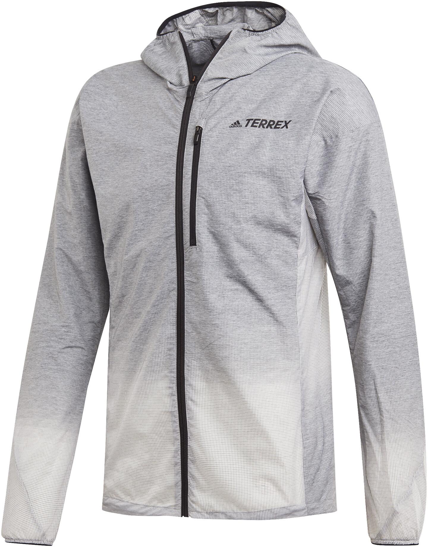 adidas TERREX Agravic Windweave Løbejakke Herrer, grey four/white (2019) | Jackets