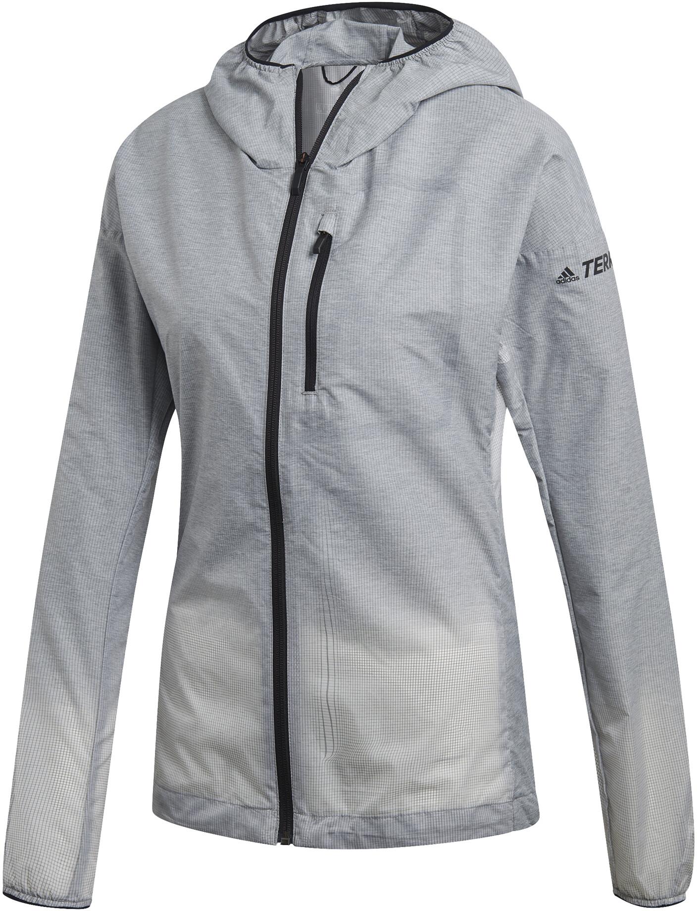 adidas TERREX Agravic Windweave Løbejakke Damer, grey three/white (2019) | Jackets