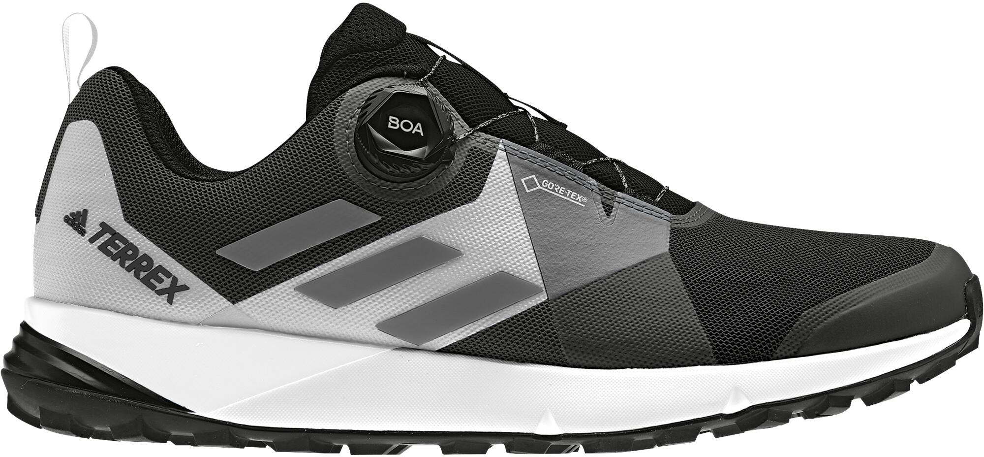 adidas TERREX Two Boa GTX Sko Damer, core black/grey four/ftwr white   Shoes and overlays