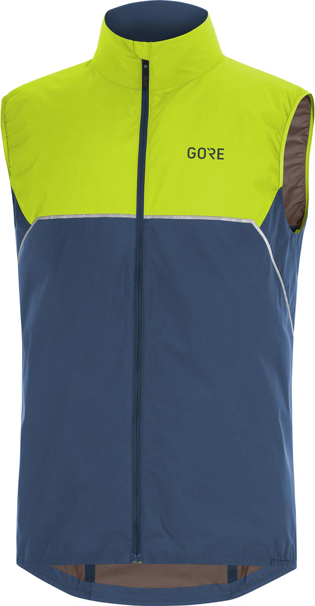 GORE WEAR R7 Partial Gore-Tex Infinium Vest Herrer, deep water blue/citrus green (2019) | Vests