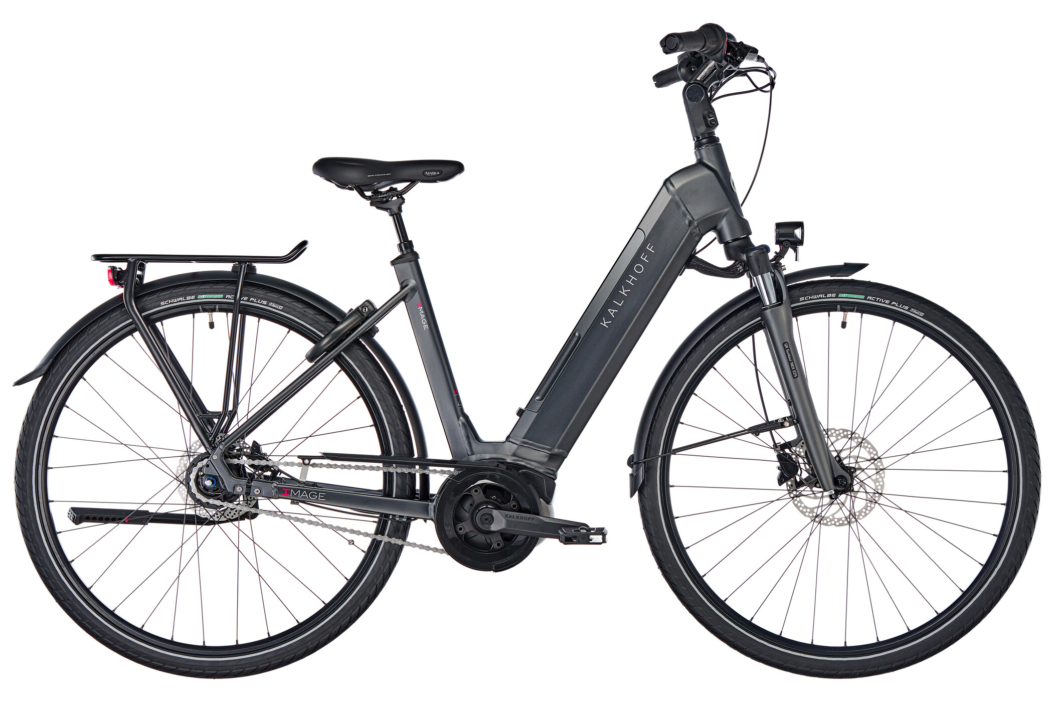Kalkhoff Image 5.B Move E-citybike Wave 500Wh sort (2019) | City-cykler