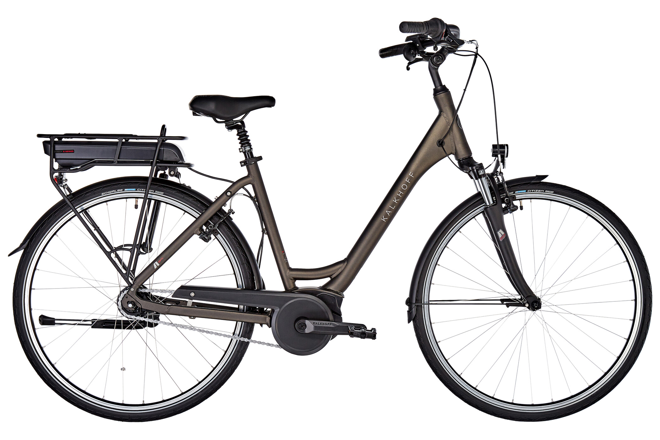 Kalkhoff Agattu 1.B Move E-citybike Wave 400Wh grå (2019) | City-cykler