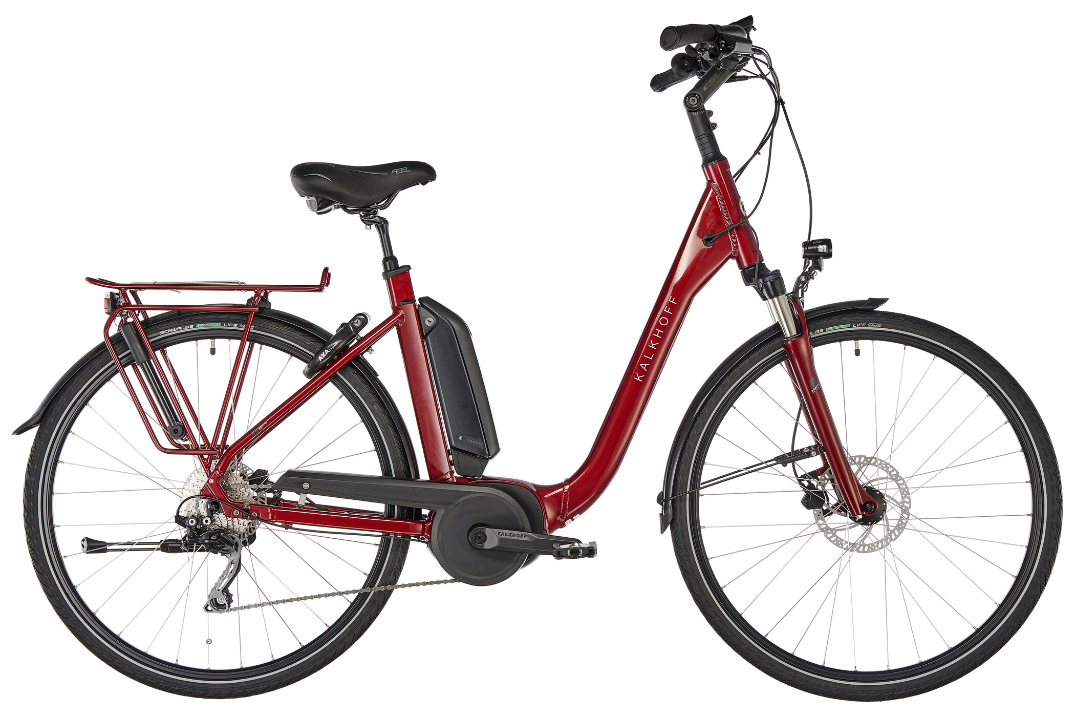 Kalkhoff Agattu 3.B Dynamic Comfort 500Wh, winered glossy | City-cykler