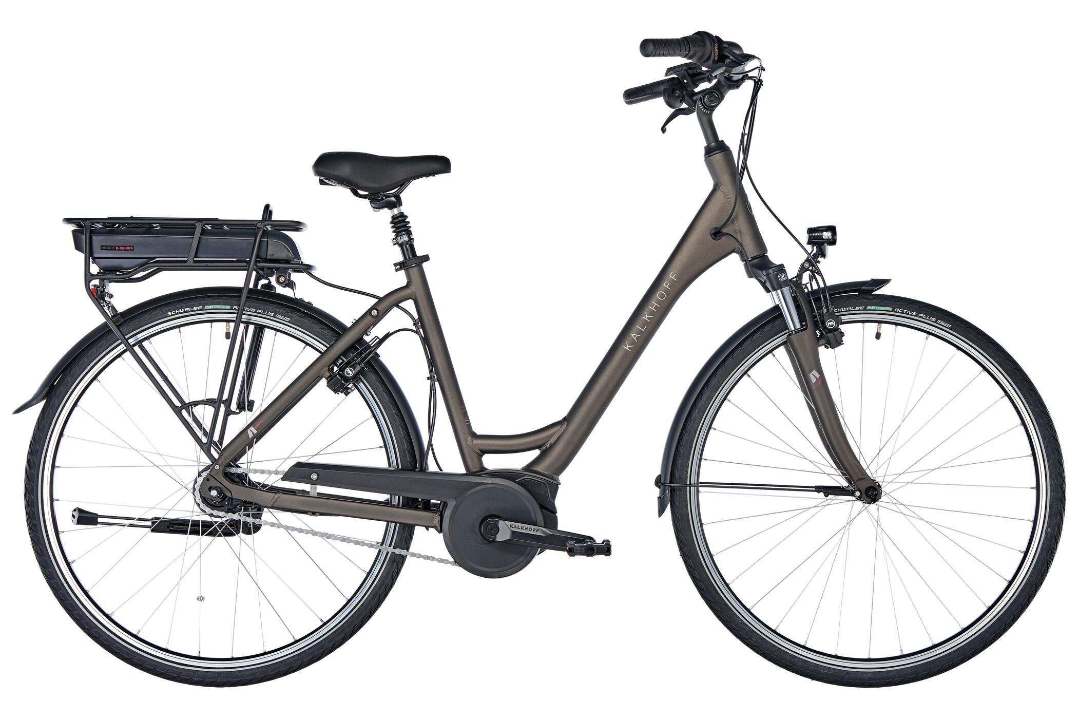 Kalkhoff Agattu 1.B Advance E-trekkingcykel Wave 500Wh grå (2019) | City-cykler
