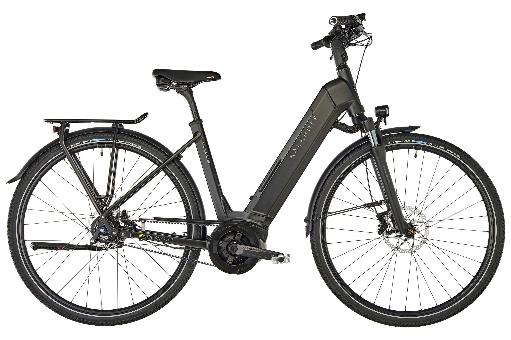 Kalkhoff Endeavour 5.B Belt E-trekkingcykel Wave 500Wh sort (2019) | City-cykler