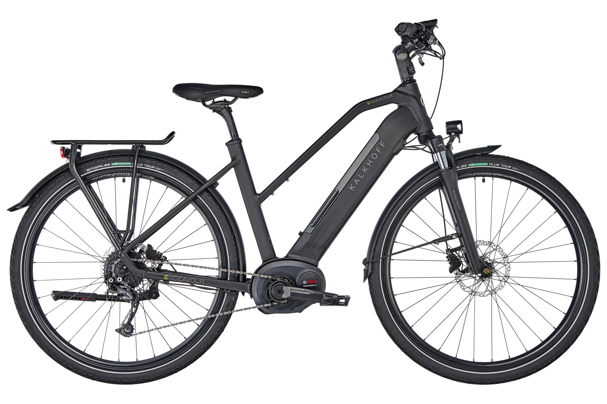 Kalkhoff Endeavour 5.B XXL E-trekkingcykel Trapez 500Wh sort (2019) | City-cykler