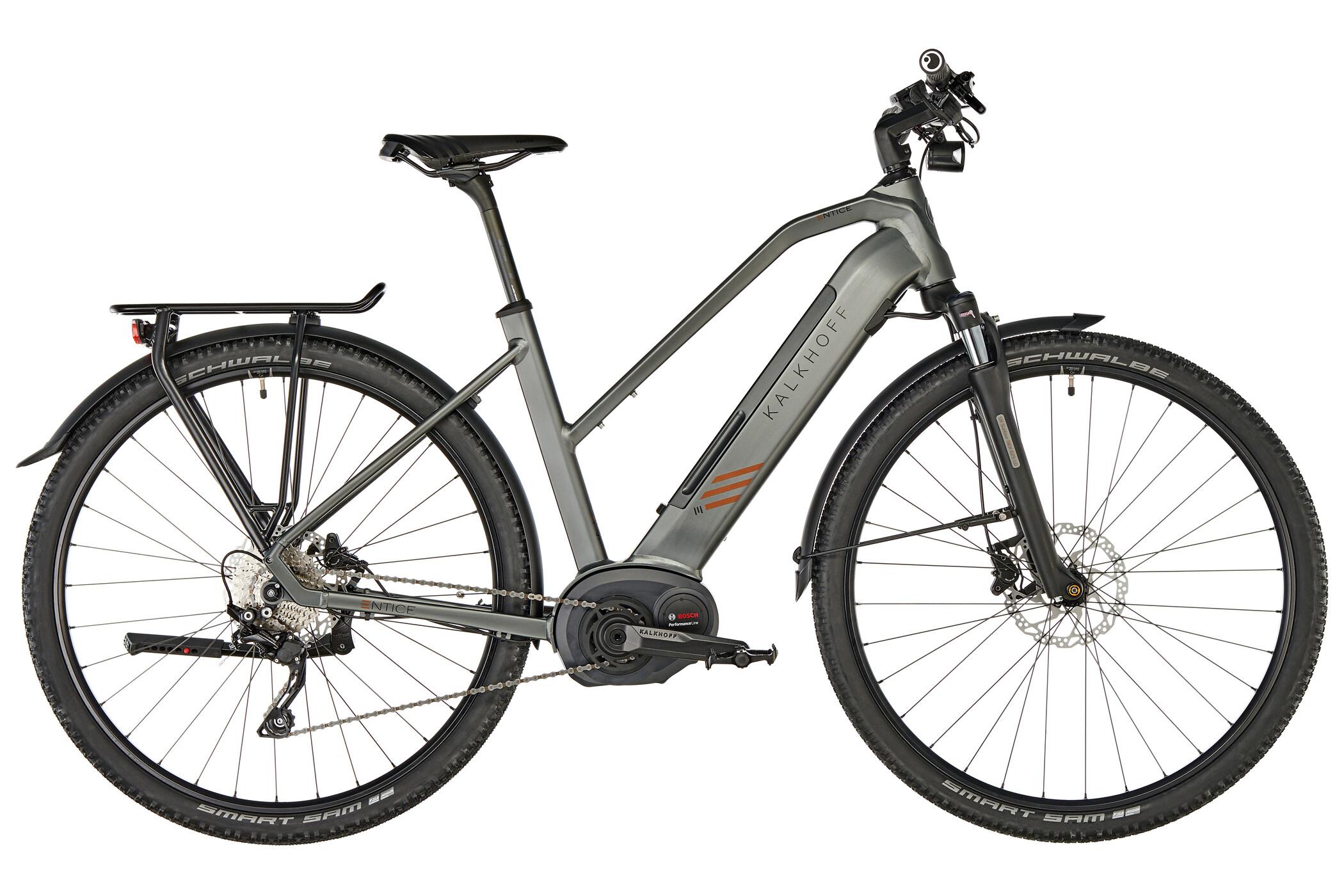 Kalkhoff Entice 5.B Tour E-trekkingcykel Trapez 500Wh grå (2019) | City-cykler