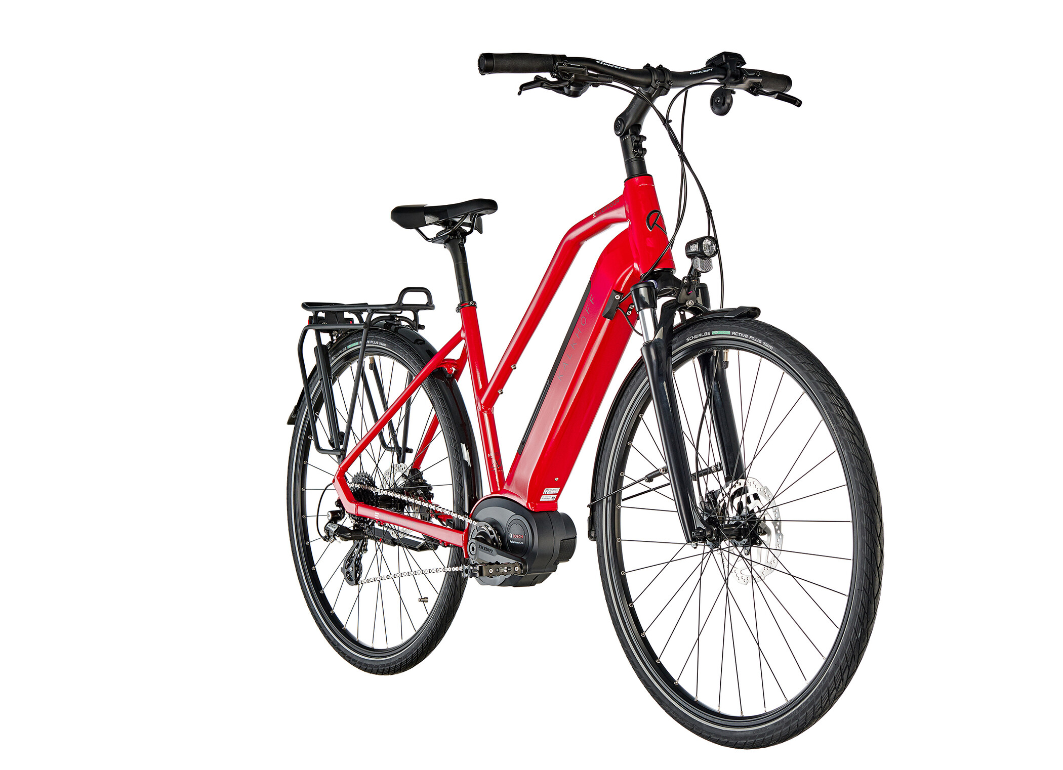 Kalkhoff Endeavour 3.B Move Trapez 500Wh, racingred glossy | City-cykler