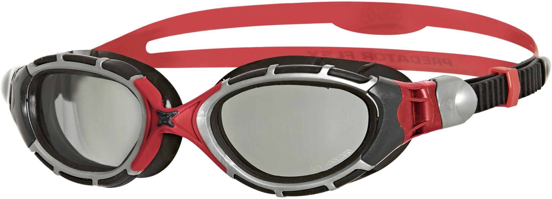 Zoggs Predator Flex Svømmebriller Polarized Reactor, grey/red/black (2019) | swim_clothes