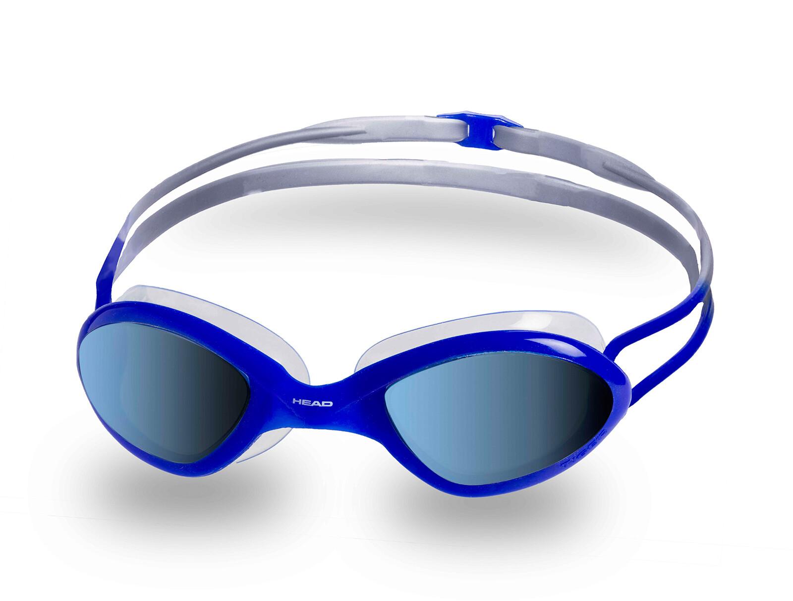 Head Tiger Race Mirrored LiquidSkin Svømmebriller, clear-blu-blue   Tri-beklædning