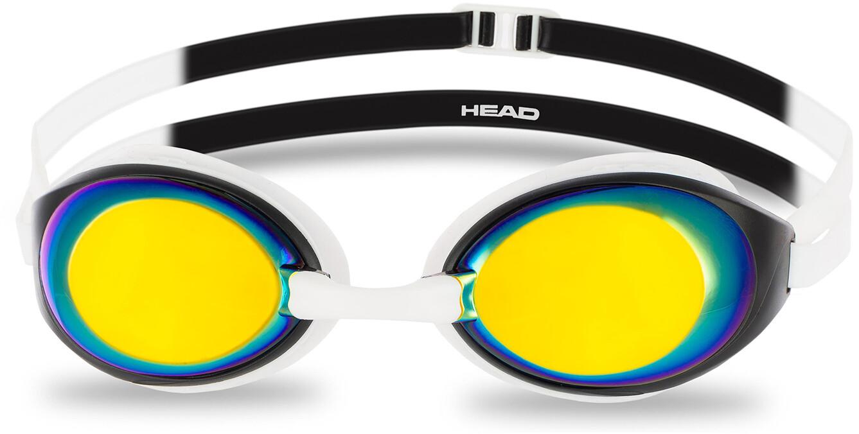 Head HCB Comp Mirrored Svømmebriller, white-black-smoke   Tri-beklædning