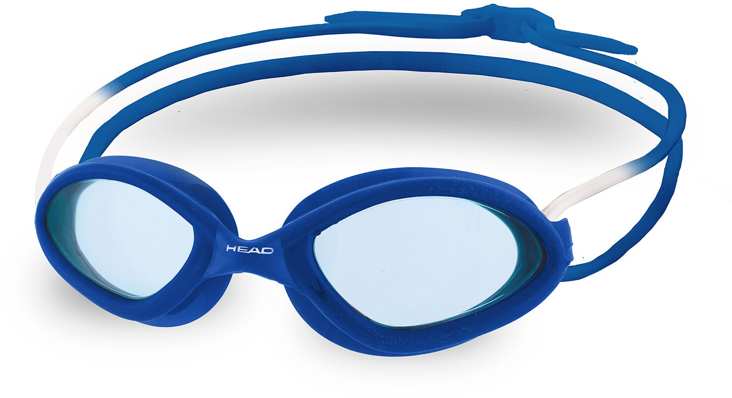 Head Superflex Mid Race Svømmebriller, lightblue-blue   Tri-beklædning