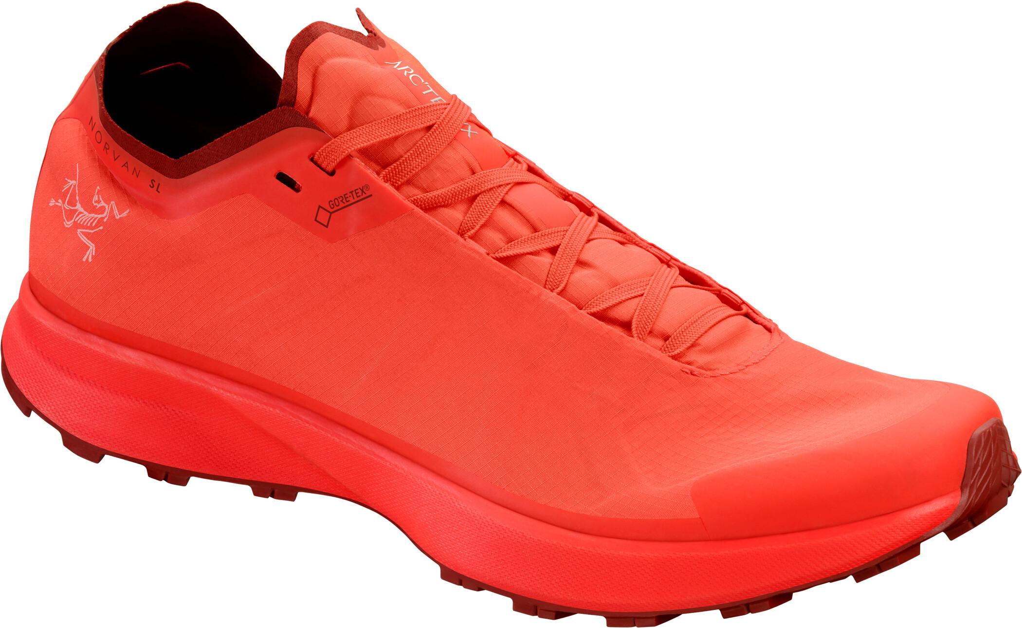Arc'teryx Norvan SL GTX Sko Damer, aurora/infrared   Shoes and overlays