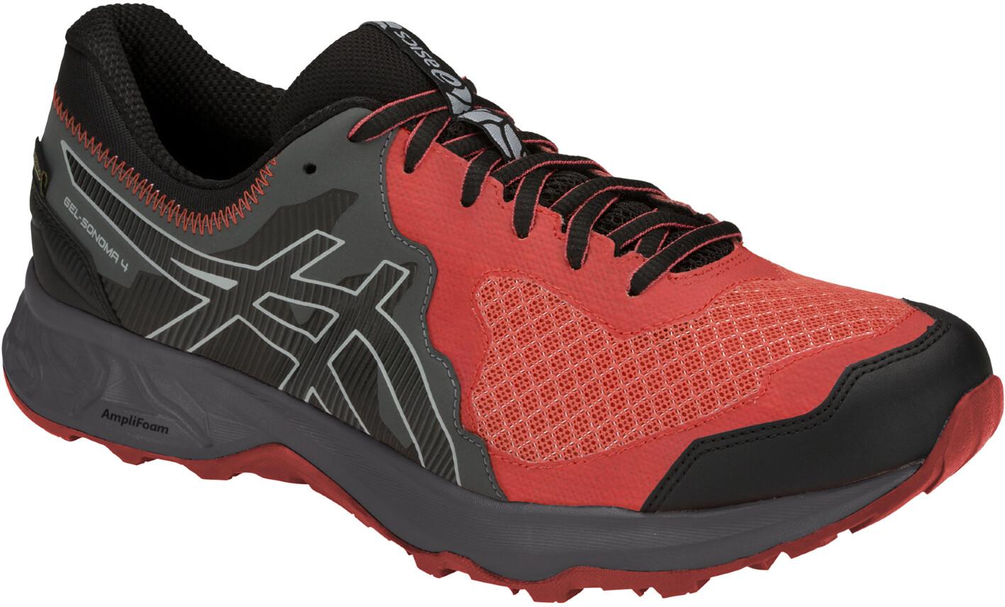 asics Gel-Sonoma 4 G-TX Sko Herrer, red snapper/black (2019)   Shoes and overlays