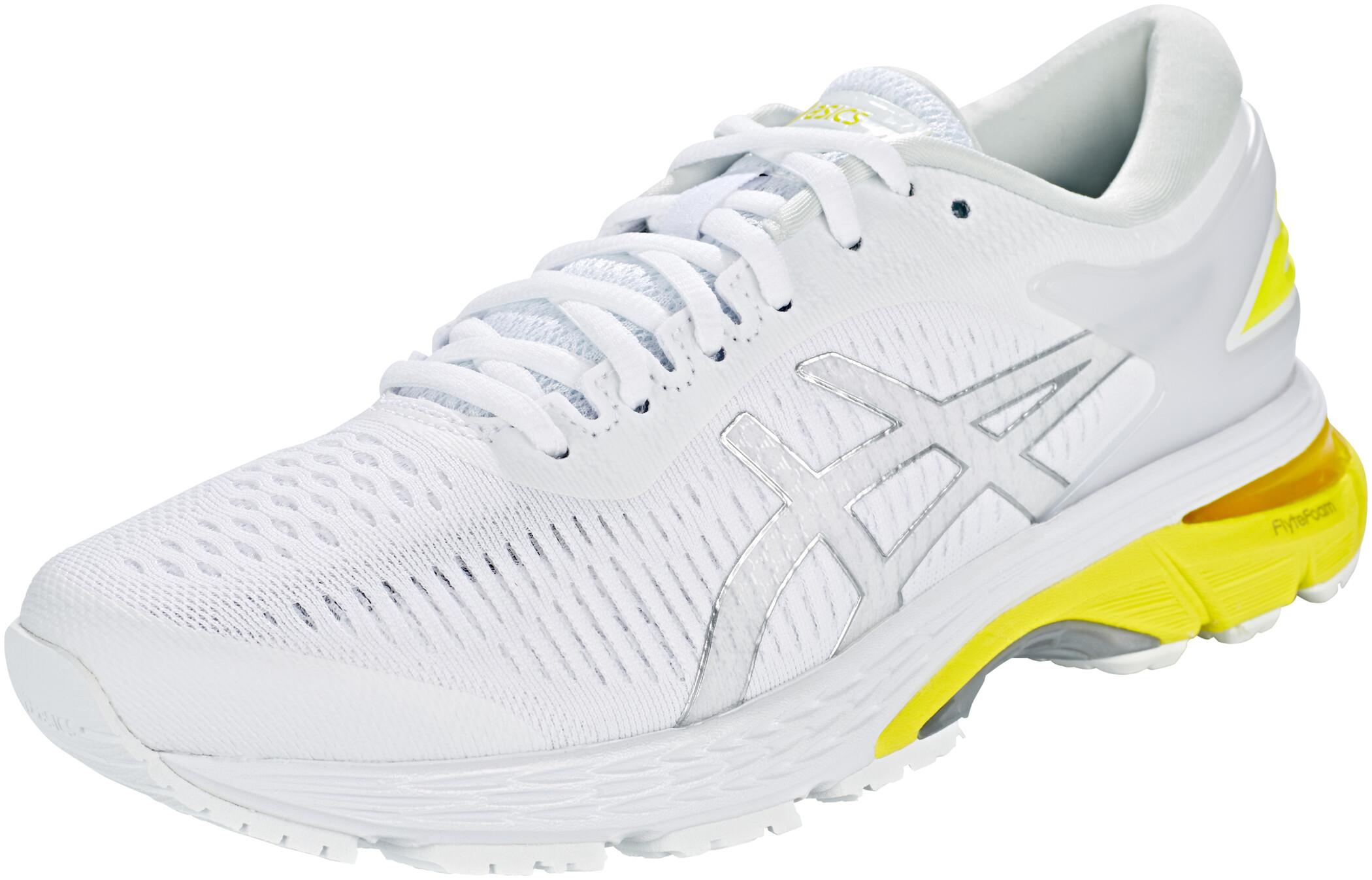 asics Gel-Kayano 25 Sko Damer, white/lemon spark (2019) | Shoes and overlays