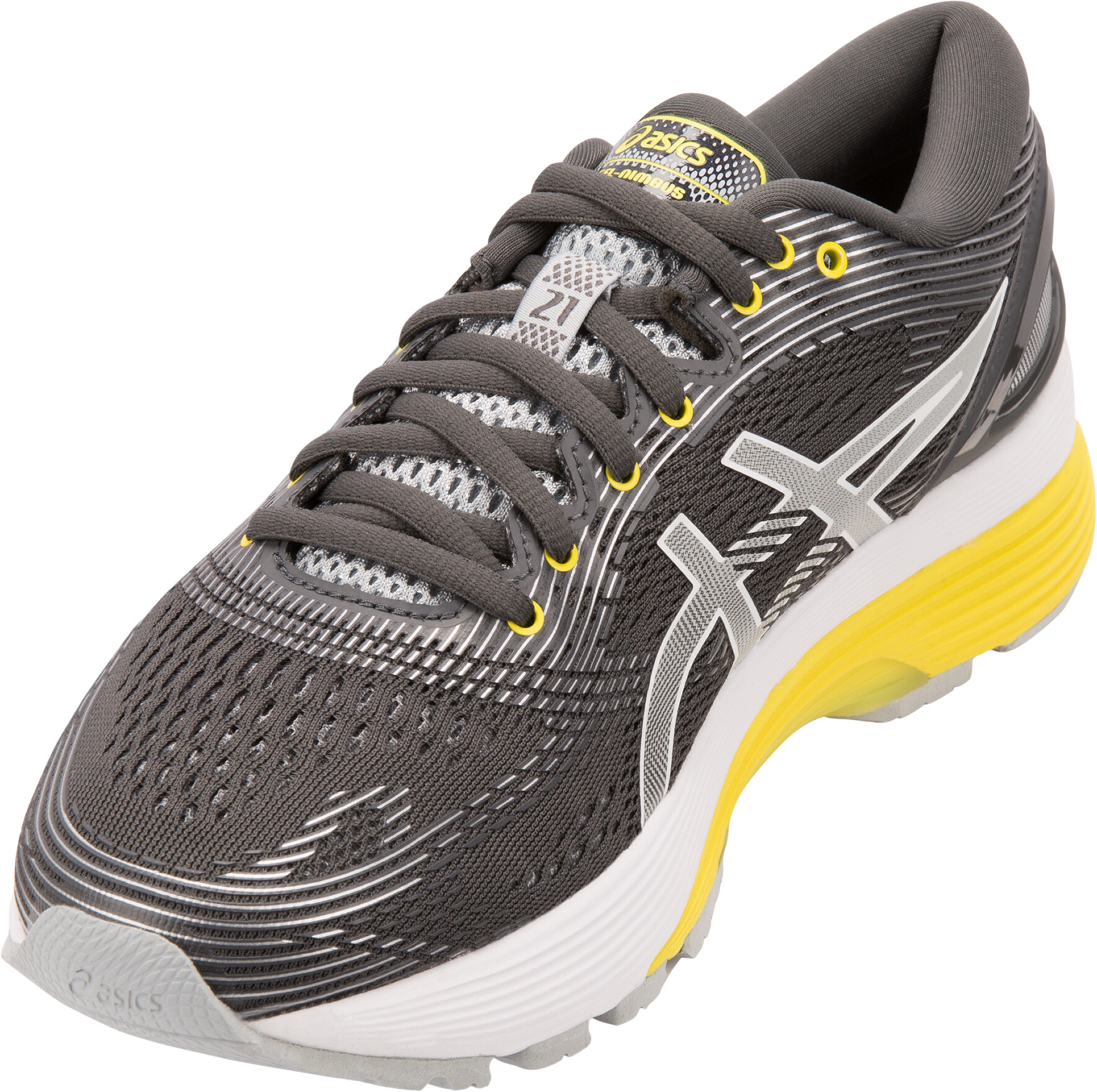 asics Gel-Nimbus 21 Sko Damer, dark grey/mid grey | Running shoes
