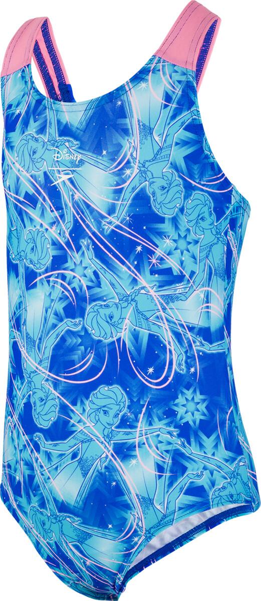 speedo Disney Frozen Allover Swimsuit Piger, blue/blue   swim_clothes
