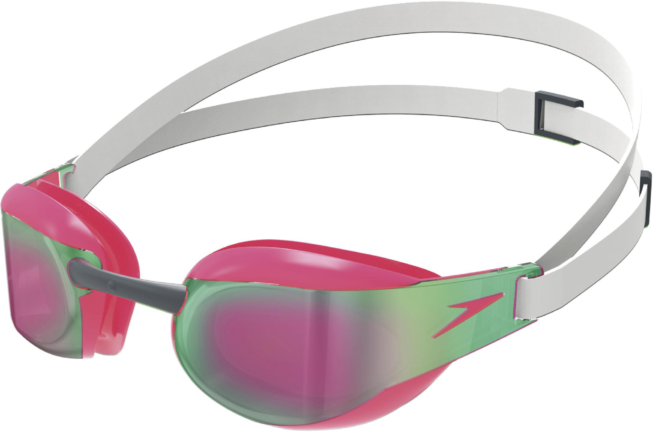 speedo Fastskin Elite Mirror Svømmebriller, white/red (2019) | swim_clothes