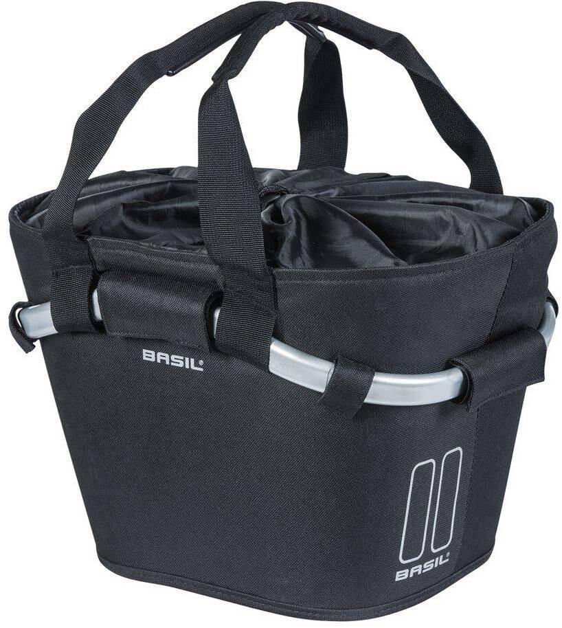 Basil Classic Forhjulskurv inkl. Klickfix-adapterplade 15l, black | Bike baskets