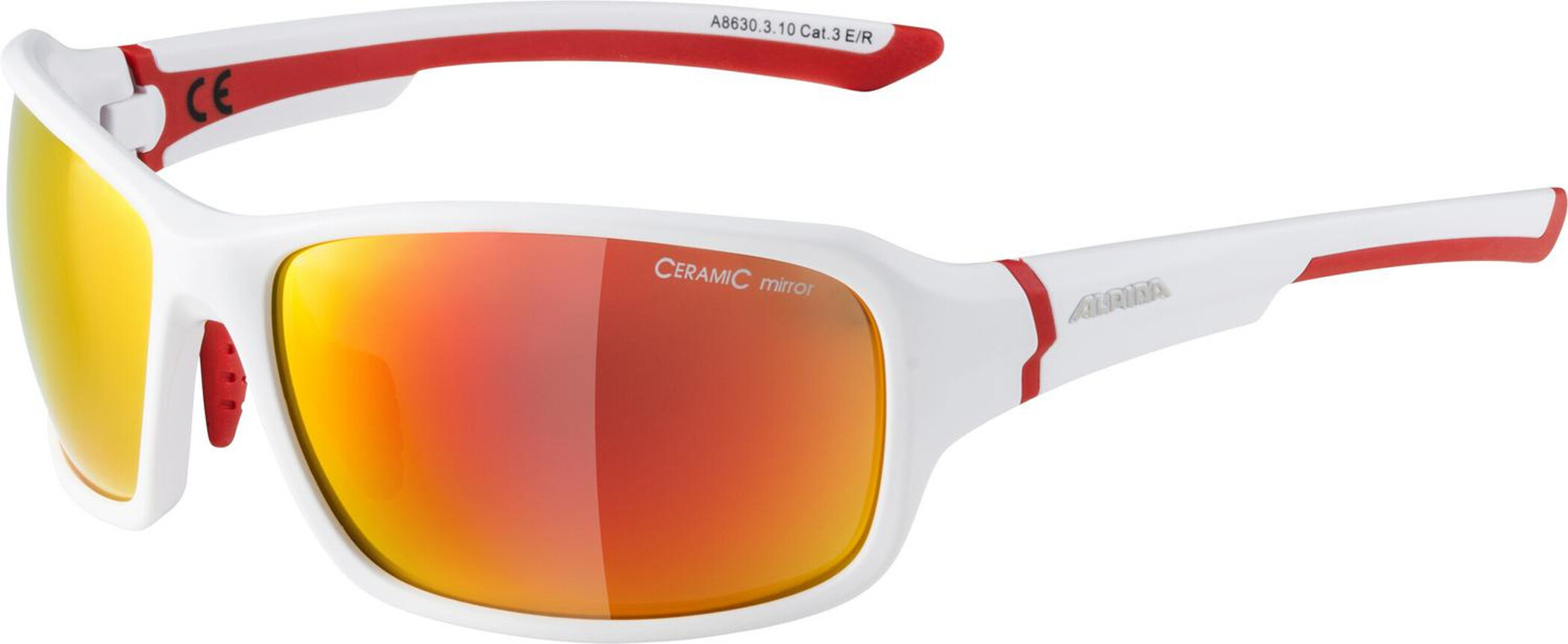 Alpina Lyron Cykelbriller, white matt-red (2019) | Glasses