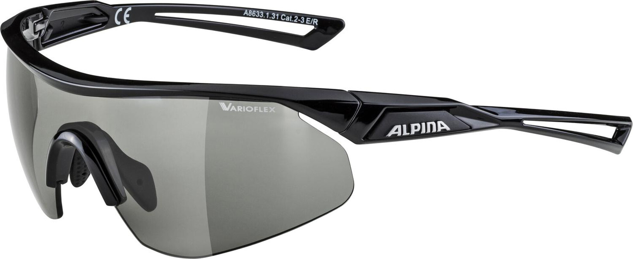 Alpina Nylos Shield VL Cykelbriller, black (2019) | Glasses